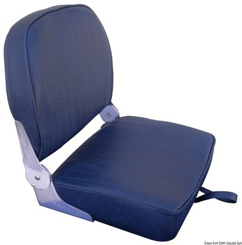 Foto - SEAT WITH FOLDABLE BACK, NAVY BLUE