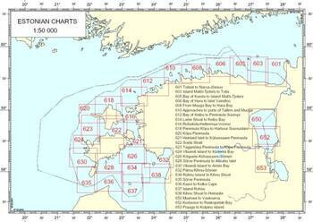 Foto - NAVIGATIONAL CHARTS OF ESTONIA no.614 - LAINE SHOAL TO KUIBU BAY