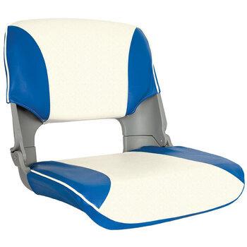 Foto - SKIPPER SEAT FOLDING, UPHOLST, BLUE/WHITE